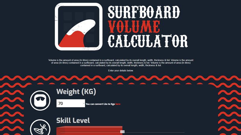 Surfboard Volume Calculator